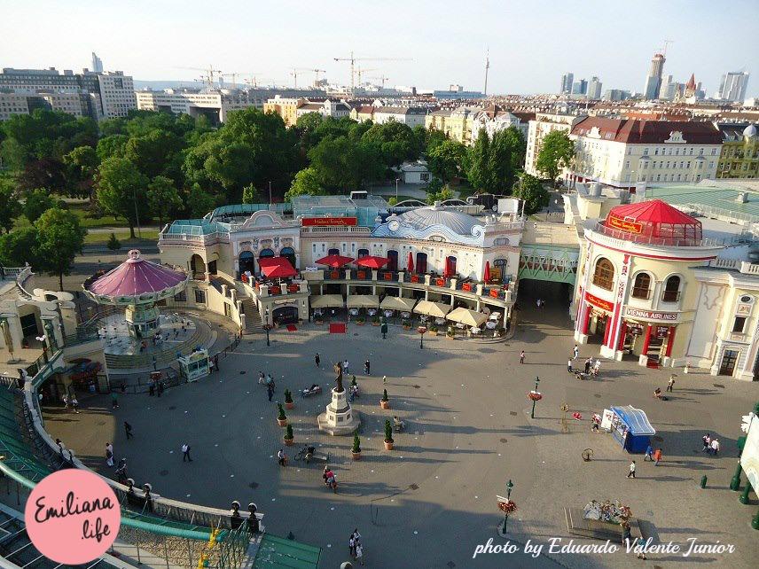 parque viena vista roda gigante
