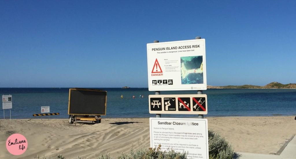 10 placa advertencia sandbar closed