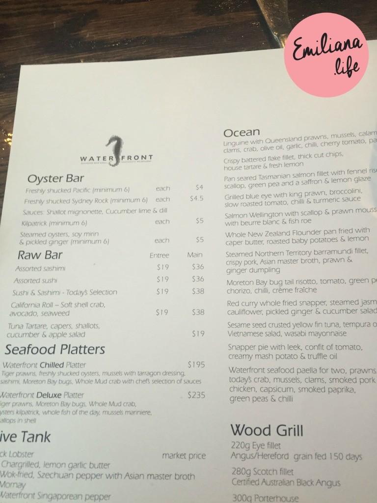 132 menu waterfront rest