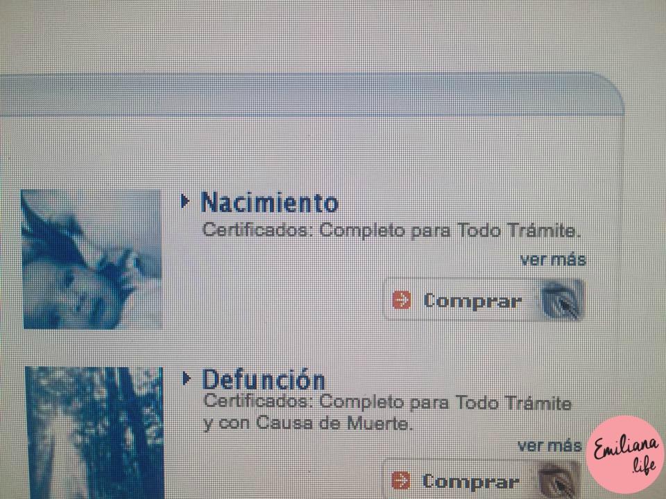 104 certificado nacimiento